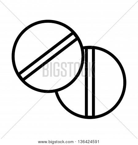 black and white set of medicine pills front view over isolated background, vector illustration