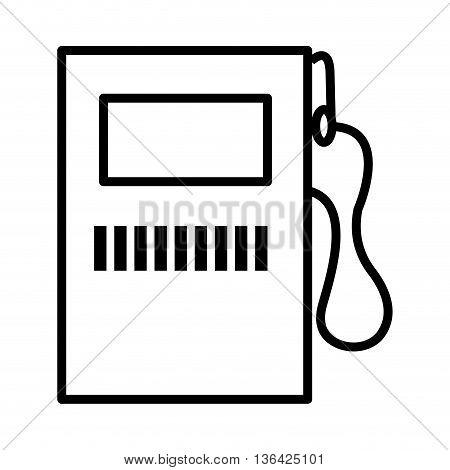 fuel icon design over white background, vector illustration eps10
