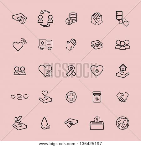 Vector UI Illustration Health Donation Charity Concept
