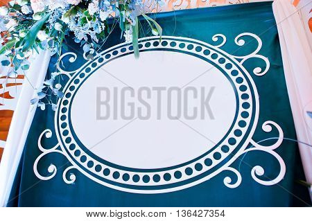 Decorative Photo Banner With Free Space For You Text On Wedding Party