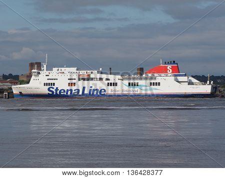Boat Between Belfast And Birkenhead In Liverpool