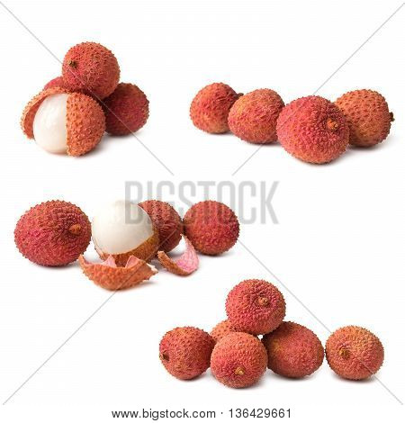 Litchi isolated on the white background picture