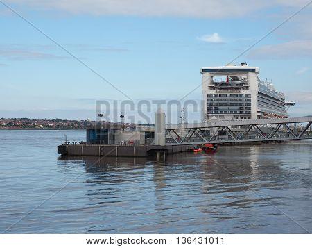 Mersey Ferry Pier Head In Liverpool