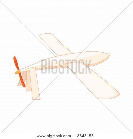 Glider icon in cartoon style on a white background