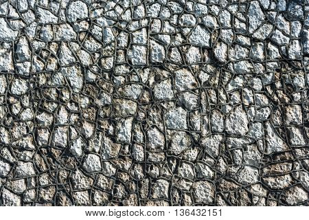 The Texture Of The Stone Walls.