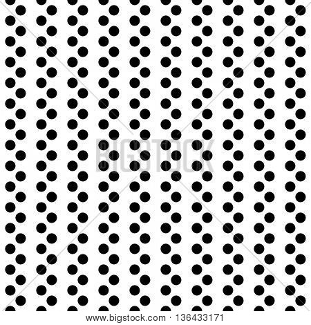 Seamless Minimal Stripe Pattern. Vector Monochrome Polka Texture. Abstract Dots Background