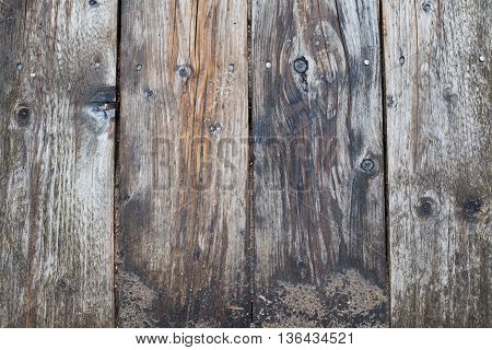Rustic, vintage, weathered and sandy wooden plank background
