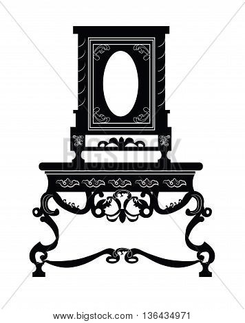 Vintage baroque luxury style furniture. Vector illustration