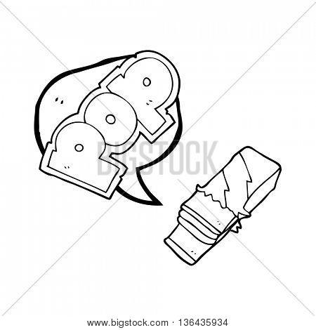 freehand drawn speech bubble cartoon bubble gum