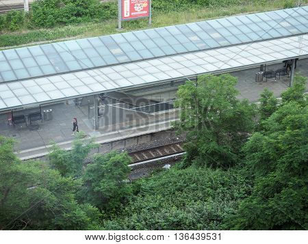 S-bahn (meaning S-train) Station In Berlin