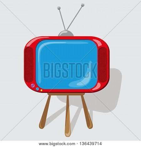 Icon the red TV . Vector illustration