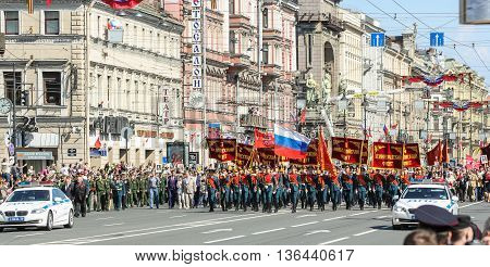 St. Petersburg, Russia - 9 May, Start the action