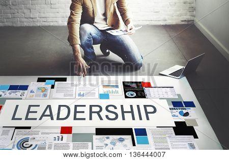 Leadership Authority Coach Director Management Concept