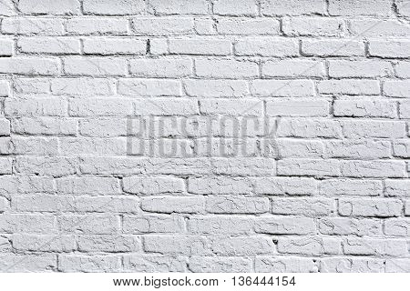 Old White Brick Wall Detail Background