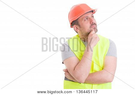Pensive Handsome Constructor Trying To Find A Solution