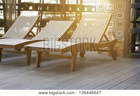 bed chair for resting and relaxing on deck