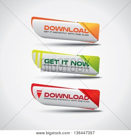 Download buttons - bright and colorful design