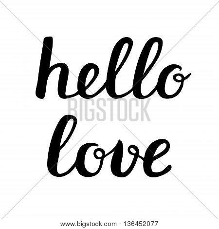 Hello Love Lettering.
