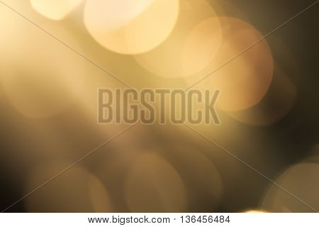 Abstract vivid yellow and white bokeh background