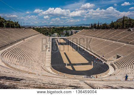 The Panathenaic Olympic Stadium in Athens, Greece