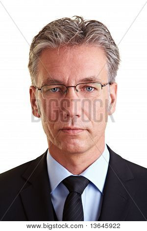 Portrait Of Serious Manager