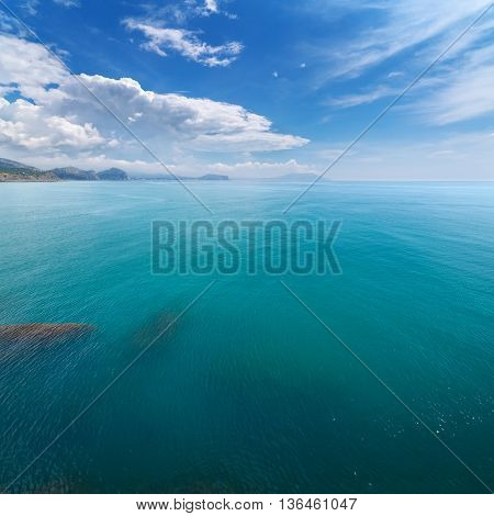 Crab Island sudak  / photo an aerial view of Crimea