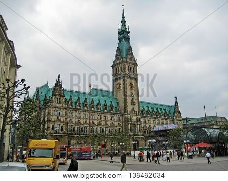 Town Hall Of Hamburg, Germany