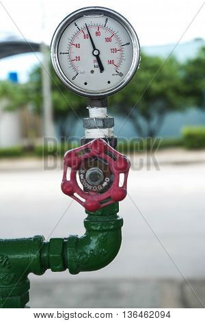 Water gauges in factory head temp bar