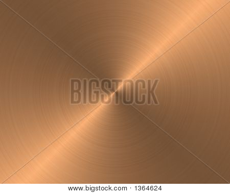 Brushed Metal Texture Background Copper Circular