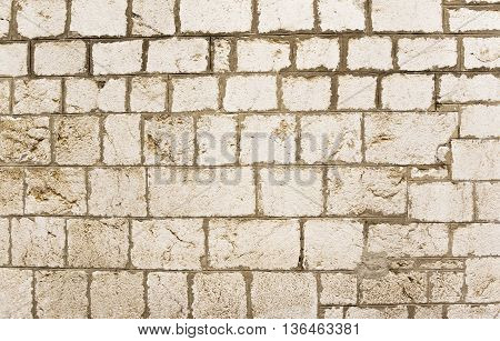 Real Stone Wall Texture Background