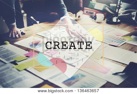 Create Creative Thinking Ideas Imagination Innovation Concept