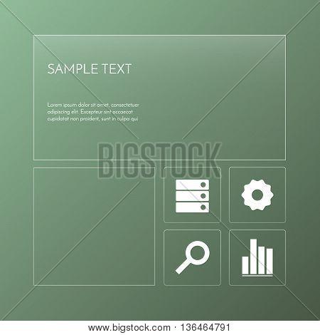 Transparent template design. Set of glass banners. Vector illustration. Transparent infographic.
