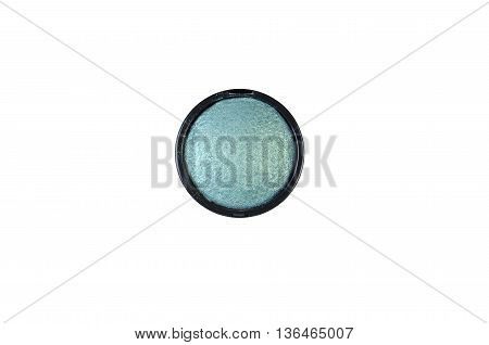 Eye shadows green isolated on white background