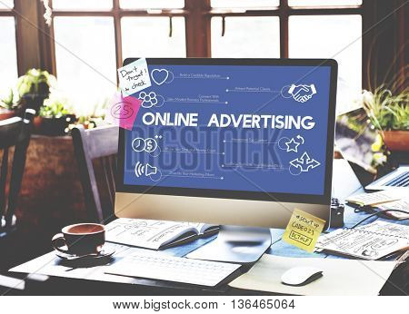 Online Advertising Internet Connection Concept