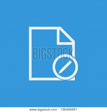 File Edit Icon In Vector Format. Premium Quality File Edit Symbol. Web Graphic File Edit Sign On Blu