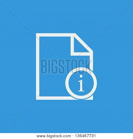 File Info Icon In Vector Format. Premium Quality File Info Symbol. Web Graphic File Info Sign On Blu