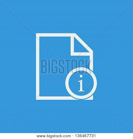 File Info Icon In Vector Format. Premium Quality File Info Symbol. Web Graphic File Info Sign On Blu