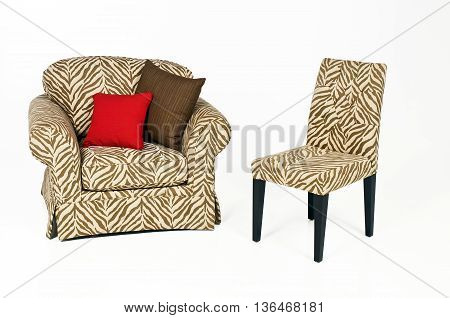 Sofa Chair Armchair Isolated on white background