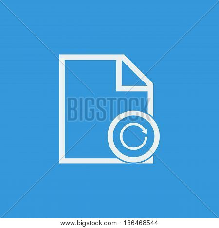 File Reload Icon In Vector Format. Premium Quality File Reload Symbol. Web Graphic File Reload Sign