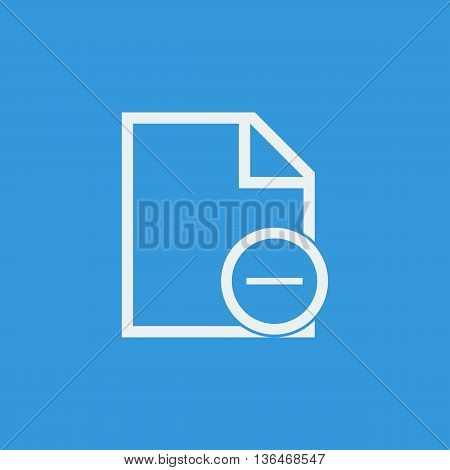 File Remove Icon In Vector Format. Premium Quality File Remove Symbol. Web Graphic File Remove Sign