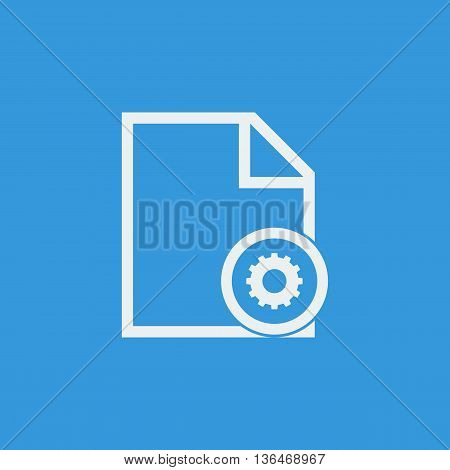File Settings Icon In Vector Format. Premium Quality File Settings Symbol. Web Graphic File Settings