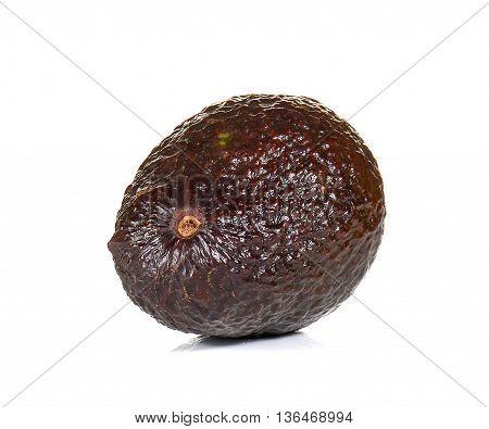 Avocado dark brown isolated on white background.