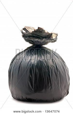 Schwarz gebunden Müllsack