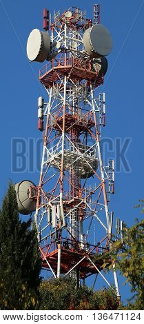 Giant Repeater Of Television Signals And Mobile Phones