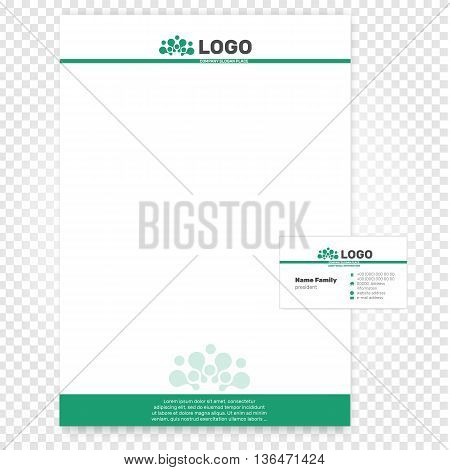 Isolated paper page vector illustration. Company identity business template. Branding offece A4 paper