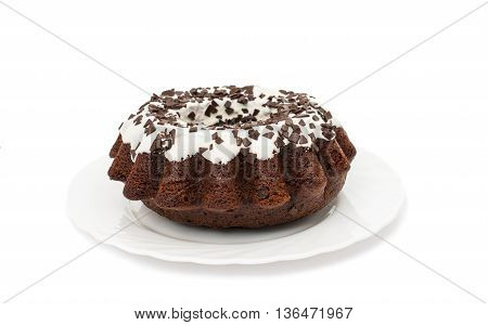 chocolate cake food, dessert on white background
