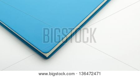 Focus at conner book blue color isolate