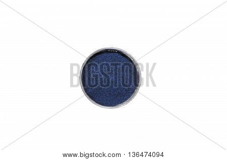 Dark blue eye shadow isolated on white background