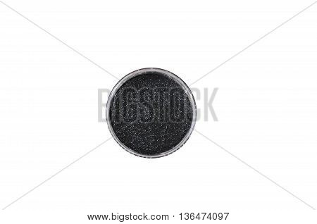 eyeshadow black color isolated on white background