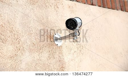 Small  Ipcam For Video Surveillance Access To The Private Area O